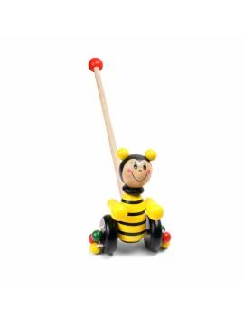 Дървена играчка за бутане Пчела, Pino