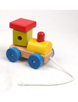 Дървен локомотив за...