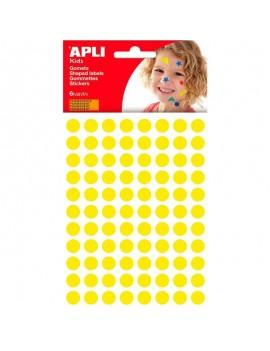APLI 13232 Самозалепващи жълти кръгчета Ф10,5мм