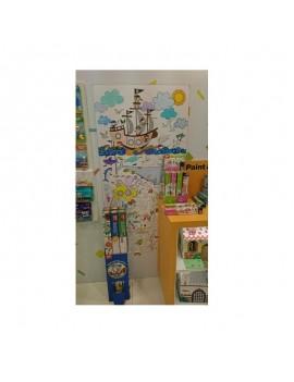 Детски плакат за оцветяване- Воден свят