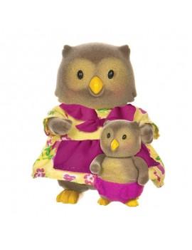 Колекционерски фигурки Бухал майка и бебе, Lil' Woodzeez