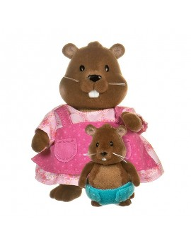 Колекционерски фигурки Бобърчета майка и бебе, Li`l Woodzeez