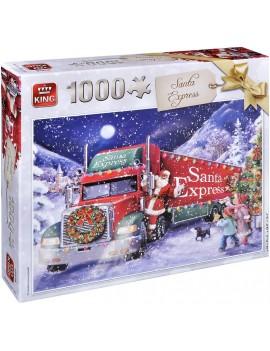 Пъзел King от 1000 части - Камионът на Дядо Коледа