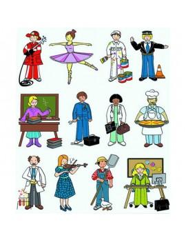 Самозалепващи фигурки Професии, APLI Kids