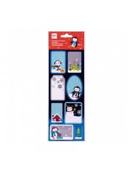 Коледни етикети Пингвин