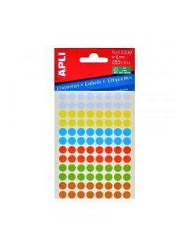 APLI 2092 Цветни етикети Ф8 за ръчно писане - микс цветове