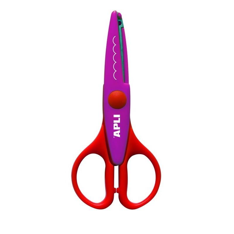 APLI Kids 12819 Ножица за декоративно рязане и приложни занимания - 13 cm