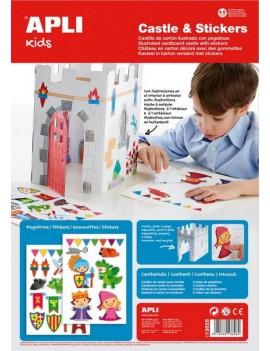 Направи си замък - игра със стикери