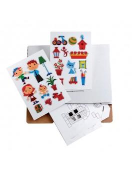 Направи си къща - игра със стикери